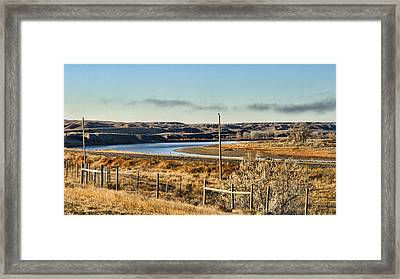 Yellowstone River View Framed Print by Aliceann Carlton
