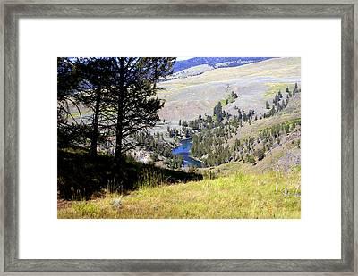 Yellowstone River Vista Framed Print by Marty Koch