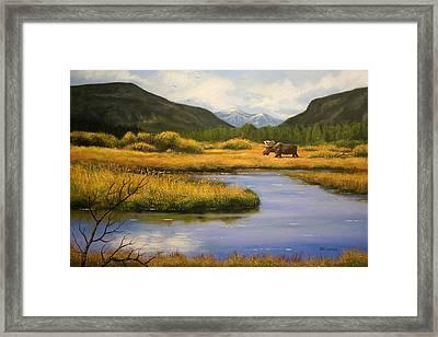 Yellowstone Saga Framed Print by Brooke Lyman