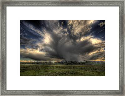 Yellowstone Storm Framed Print