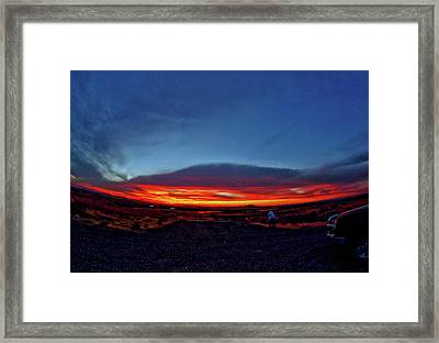 Yellowstone Sunset Framed Print