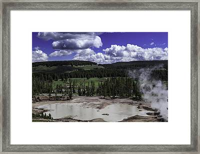 Framed Print featuring the photograph Yellowstone Tar Pits by Jason Moynihan