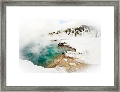Yellowstone Thermals Framed Print by Melody Watson