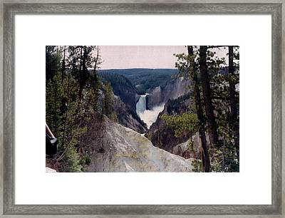 Yellowstone Water Fall Framed Print