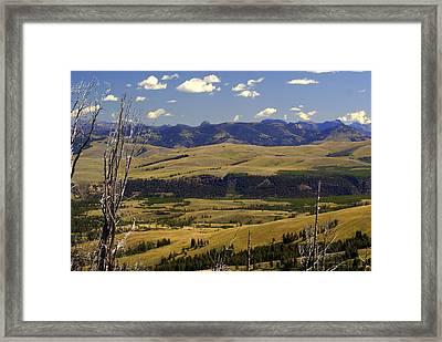 Yellowstone Vista Framed Print by Marty Koch