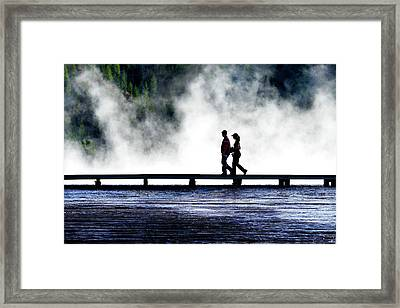 Yellowstone Walkers Framed Print