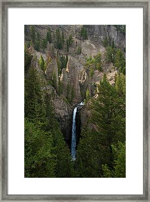 Framed Print featuring the photograph Yellowstone Waterfall by Roger Mullenhour