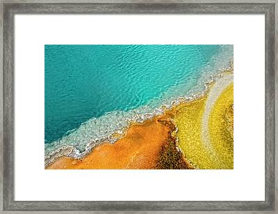 Yellowstone West Thumb Thermal Pool Close-up Framed Print by Bill Wight CA