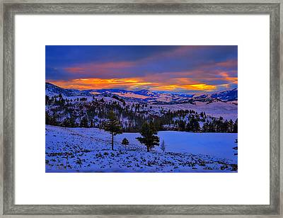 Yellowstone Winter Morning Framed Print