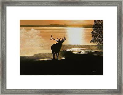 Yellowstone's Monarch Framed Print