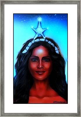 Yemaya -mother, Goddess, Warrior Framed Print