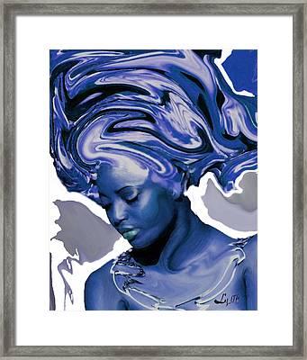 Yemaya Okute Framed Print by Liz Loz