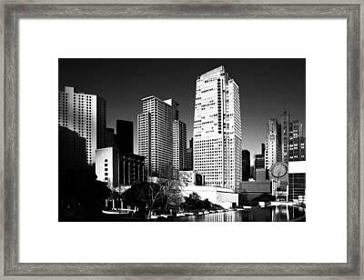Yerba Buena Garden 2 . Bw Framed Print by Wingsdomain Art and Photography
