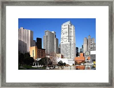 Yerba Buena Garden 2 Framed Print by Wingsdomain Art and Photography