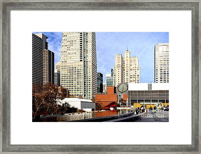Yerba Buena Garden In San Francisco Framed Print by Wingsdomain Art and Photography