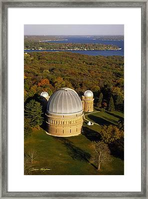 Yerkes Observatory - Aerial View - Lake Geneva Wisconsin Framed Print