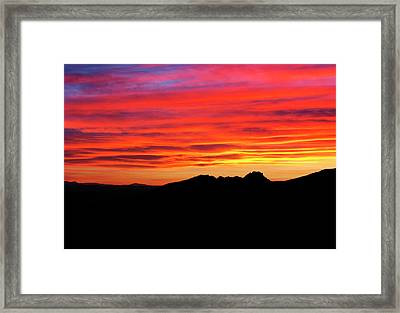 Yermo Sunset Framed Print by Frank Henley