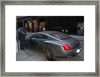 Yes    Write Him Up Cop Framed Print by Rob Hans