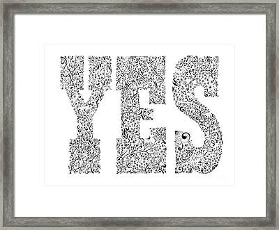 YES Framed Print by Aaron Knight