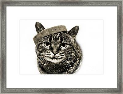 Yes I Am Wearing A Headband Framed Print by Andee Design