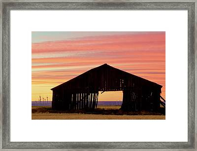 Yesterday And Today At Sunset Framed Print