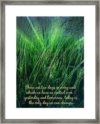 Yesterday And Tomorrow Framed Print