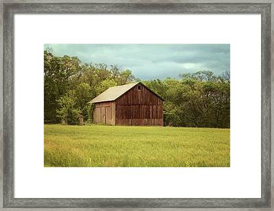Yesterday's Barn Framed Print