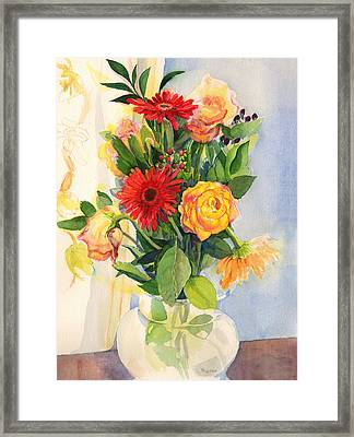 Yesterdays Beauties Framed Print by Nancy Watson