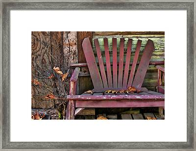 Yesterday's Chair Framed Print by Bonnie Bruno