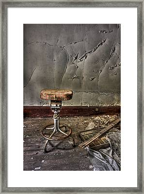 Yesterday's Dark Future Framed Print by Evelina Kremsdorf
