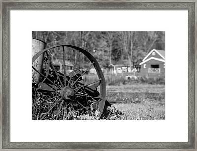 Yesterdays Farm Framed Print by Karol Livote