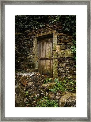 Yesterday's Garden Door Framed Print by Kathleen Scanlan