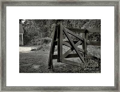 Yesterday's Gate Framed Print