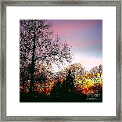 Yesterday's Sky Framed Print
