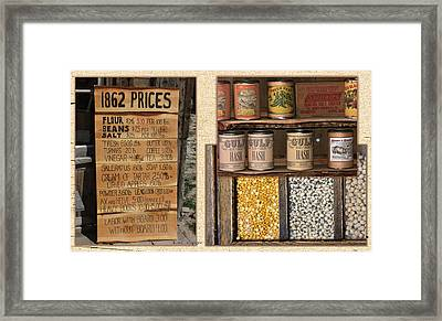 Yesteryear Groceries Framed Print