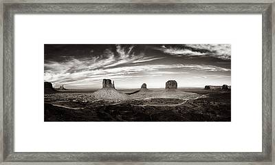 Yesteryear Monument Valley Framed Print