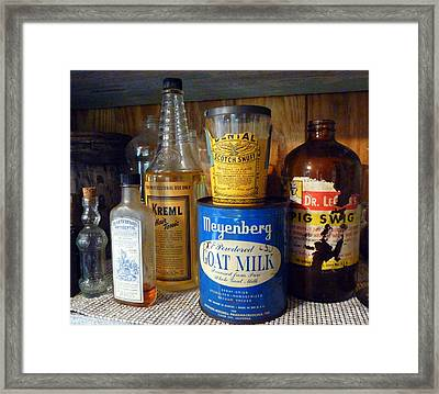 Yesteryear's Goods Framed Print