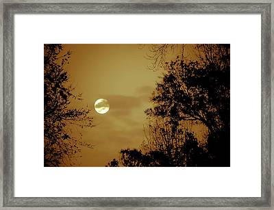 Yesteryears Moon Framed Print by DigiArt Diaries by Vicky B Fuller