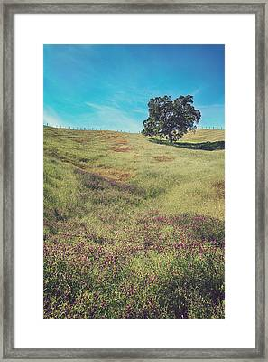 Yet I Feel His Arms Around Me Framed Print