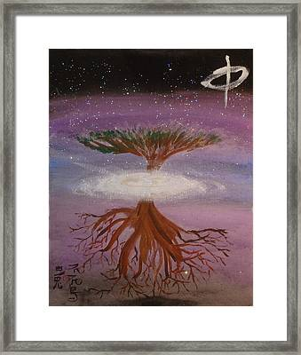 Yggdrasil For A New Millennium  Framed Print by White Rabbit  Studio