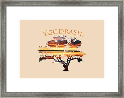 Yggdrasil- The World Tree 2 Framed Print by Whispering Peaks Photography