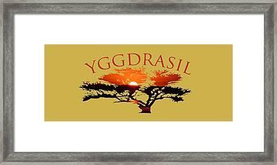 Yggdrasil- The World Tree Framed Print