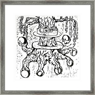 Yggdrasil, World Tree. Framed Print by Dominique Rose