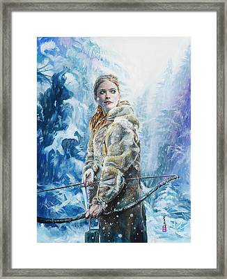 Ygritte The Wilding Framed Print