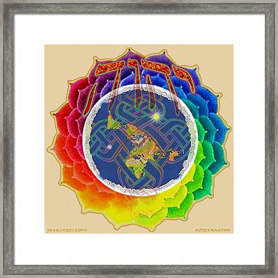 Framed Print featuring the painting Yhwh Covers Earth by Hidden Mountain