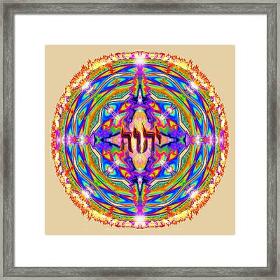 Framed Print featuring the painting Yhwh Mandala 3 18 17 by Hidden Mountain