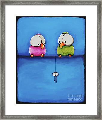 Yikes A Spider Framed Print