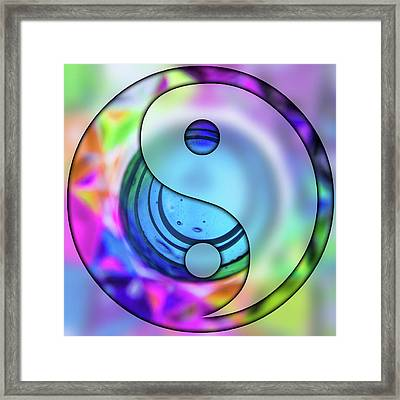 Yin And Tang In Purple  Framed Print