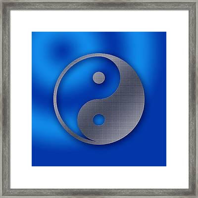 Yin And Yang - Stainless Steel Framed Print by Liona Toussaint