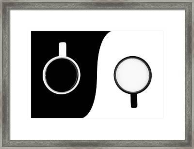 Yin And Yang Framed Print by Gert Lavsen